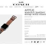 COACHもApple Watchのバンドを販売へ ファッションアイテムとしても充実