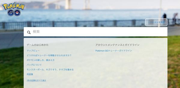 公式サポートページ