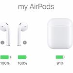 AirPodsのバッテリー残量はステイタスバーには表示されない