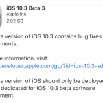 iOS10.3 beta3を開発者向けにリリース 正式版リリースに向けて順調に更新